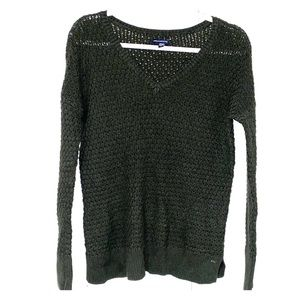 American Eagle loose knit sweater v neck sweater M